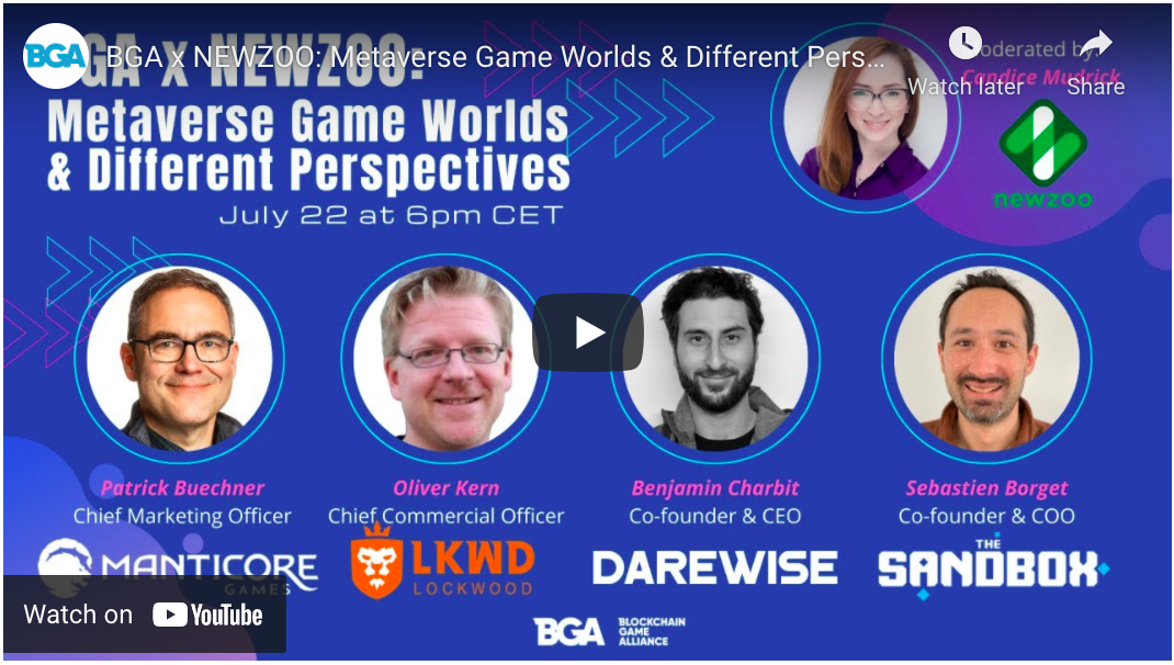 BGA x NEWZOO: Metaverse Game Worlds & Different Perspectives